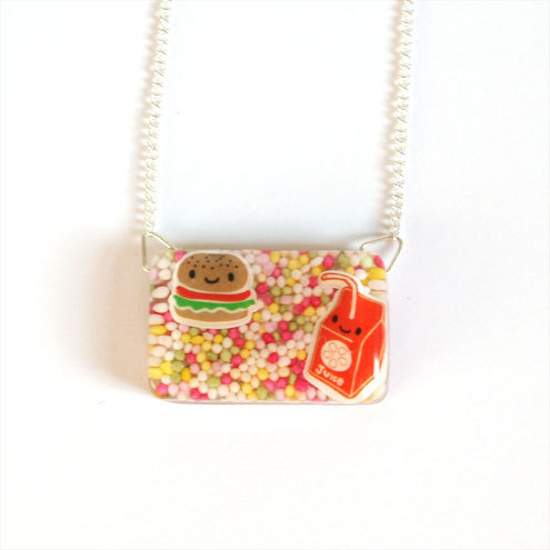 Spoilt Pig - Fast Food Necklace