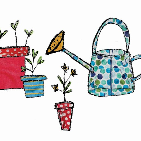 Watering Can - Blank greeting card £1.85