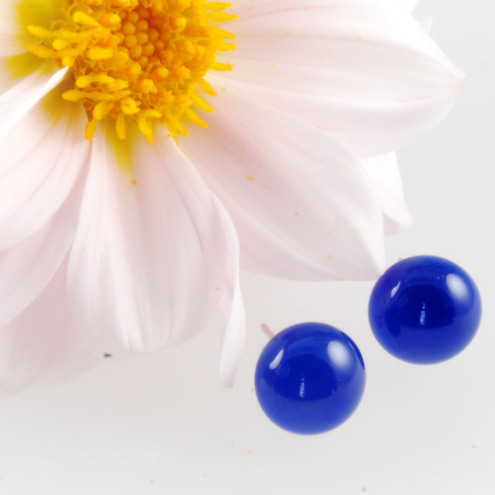 blue daisy glass