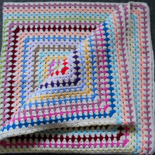 How To Crochet A Granny Square Blanket Pattern : CROCHET GIANT GRANNY SQUARE BLANKET ? Only New Crochet ...