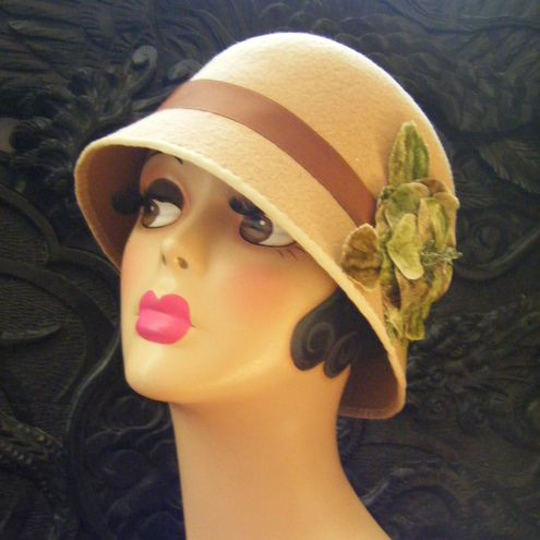 "Folksy :: Buy ""Angelina Jolie 'Changeling' inspired Cloche Hat"""