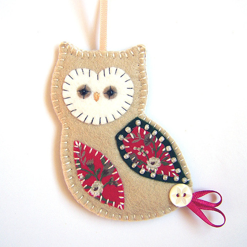 folksy buy christmas owl decoration