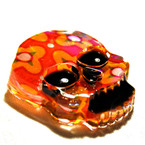 Dia de los Muertos Pretty Skull Resin Brooch, by PennyDog Jewellery