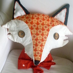 Fantastic Fox cushion from Kirsty Elson Designs