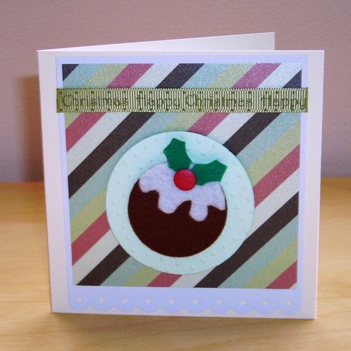 folksy buy felt figgy pudding christmas card