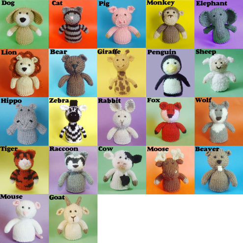 Links to Free Knitting Patterns for Stuffed Animals