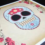Mexican Sugar Skull Card, by Voodoo Kiss