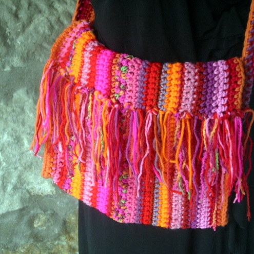 Crochet bag by the sunroom