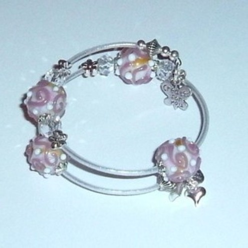 Shelly - Lilac lampwork