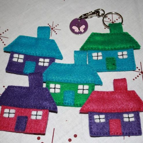 Purple Shmurple - House Keyring
