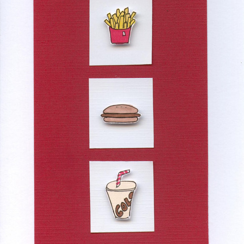 So Sue - Fast Food Greeting Card