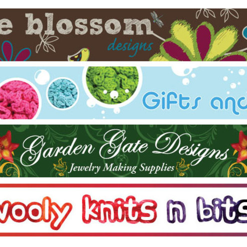 Custom made banner for your folksy shop £12.00