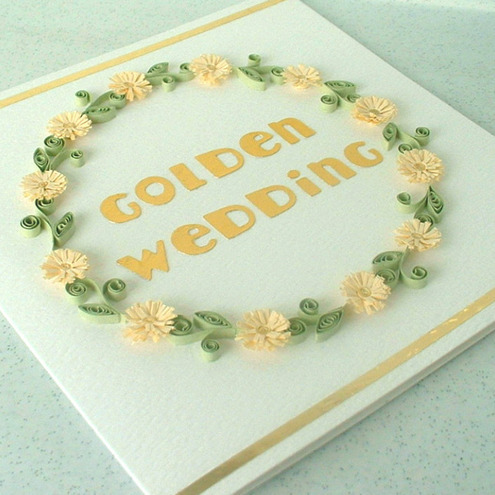 50th wedding anniversary card