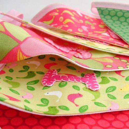 Girls Personalised Bunting by Little Kitten