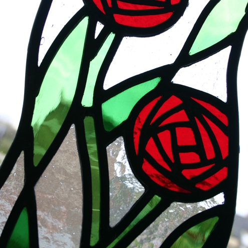 Stained Glass Rose panel, by Diomo