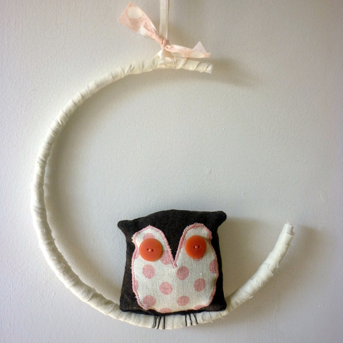 Kirsty Elson Designs - Owl in the Moon mobile
