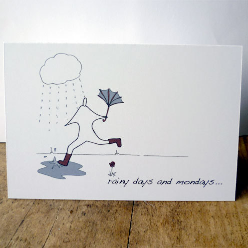 Rainy days card, £2.00 Accidental Vix