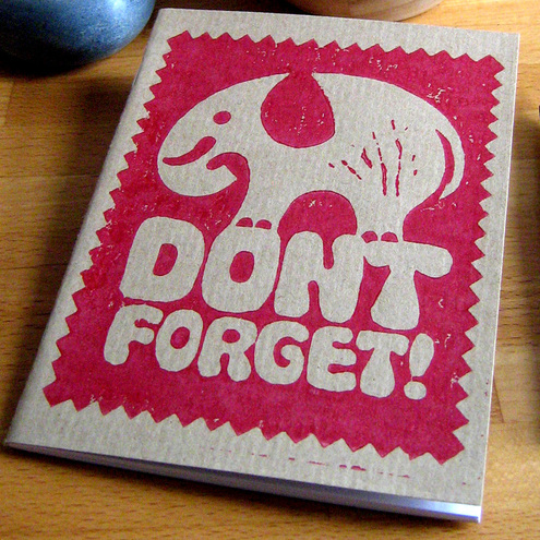 Snowdon - Don't Forget Elephant Notebook