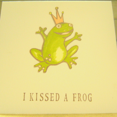 Harlequin Papercrafts - Greeting card - Frog Prince