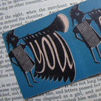 Leather bookmark from Lesley Barnes