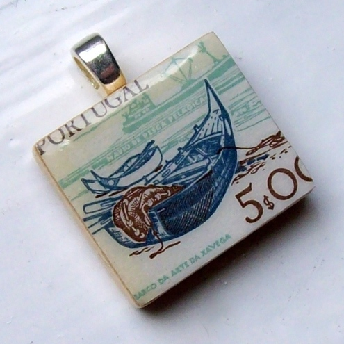 Emma Louise Originals - Postage Stamp Pendant
