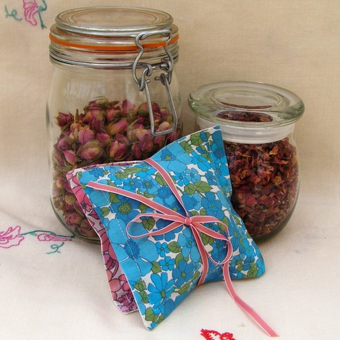 Vintage Fabric Rose Scented sachet by Padleigh Corner