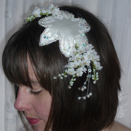 LILY OF THE VALLEY Bridal head dress