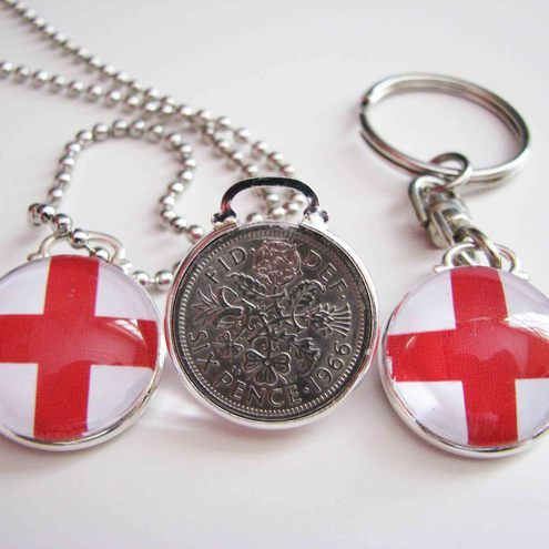 1966 England Lucky Sixpence Glass Pendant - Jupiter Rocks