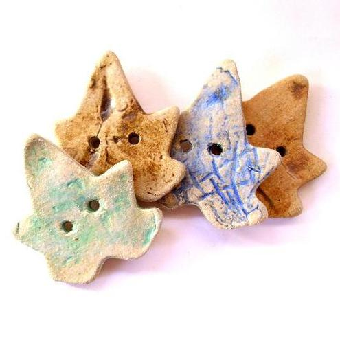 Charlotte Hupfield Ceramics - Natural Leaf buttons