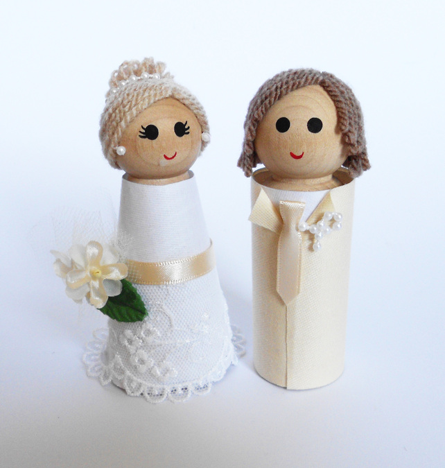 Wedding Cake Toppers Personalised Bride and Groom