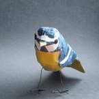 Paper bird blue tit from Rae Welch