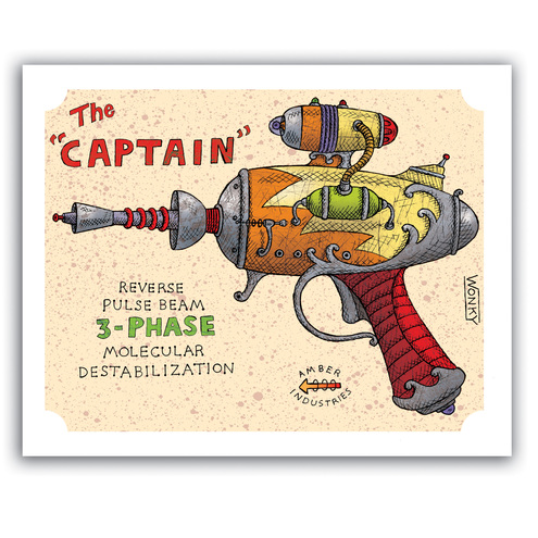 The Captain RAY GUN 8 x 10 Art Print<br />