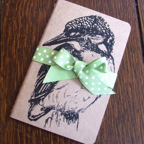 Ink Me Up - Kingfisher Gocco Printed Moleskine Notebook