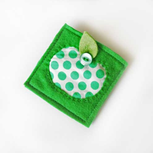 Leanne Woods Designs - Apple Brooch