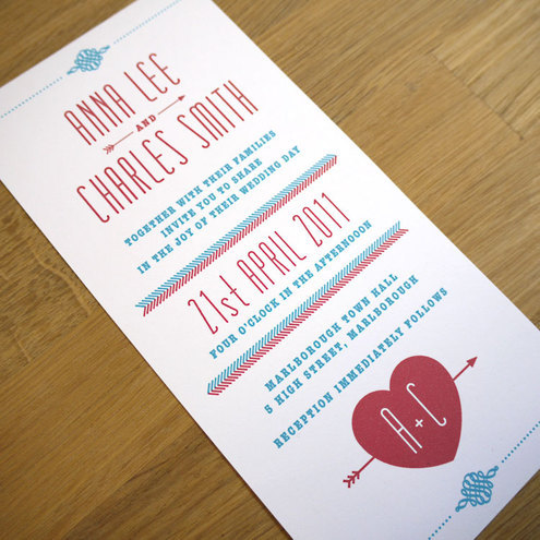 LOVESTRUCK wedding invitation SAMPLE ONLY
