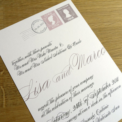 LOVE LETTER wedding invitation SAMPLE ONLY