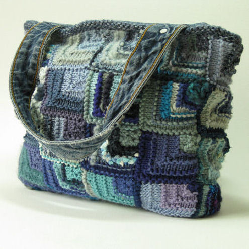 Woolen Crochet Purse : Free Knitting Purse Patterns Knitting Handbag Free Crochet