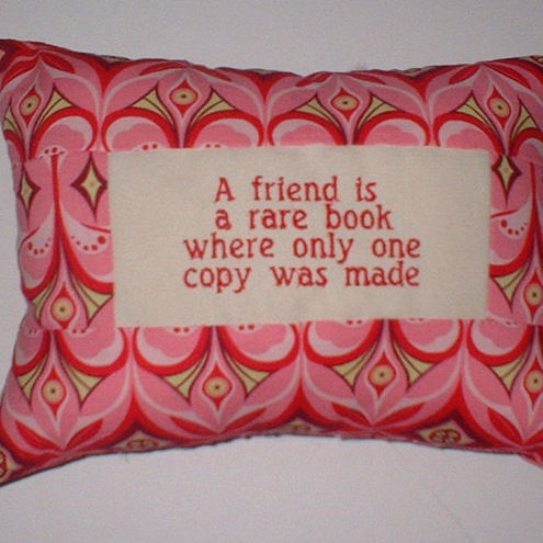 Cushion for a Friend, by classic reflections