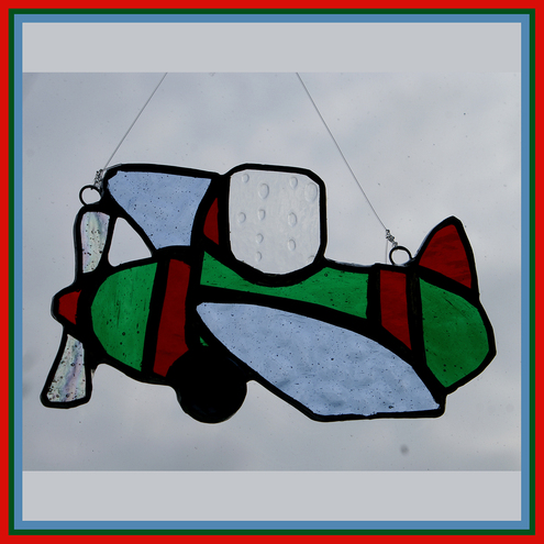 Joys Of Glass - Aeroplane Suncatcher