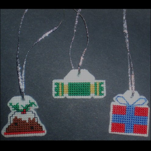 Stitched Christmas Tree Decorations
