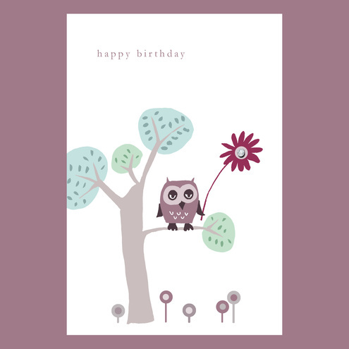 "folksy  buy ""little owl birthday card"" by mollymoo  craftjuice, Birthday card"