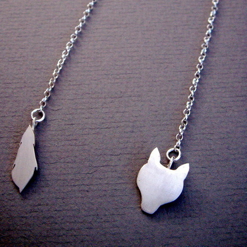 Fox Stole Silver Necklace - Bbel