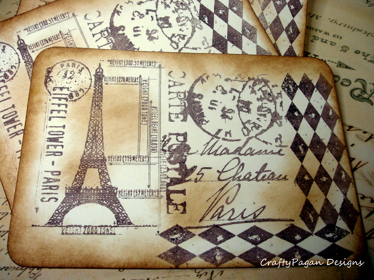 Crafty Pagan Designs - Vintage Postcards From Paris