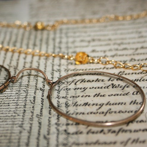 Silent Theatre - Steam punk inspired, eye glass necklace