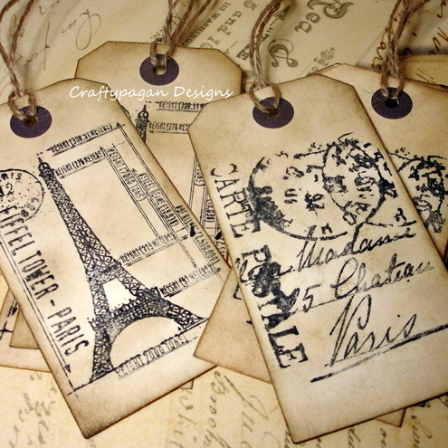 Crafty Pagan Designs - Large travel gift tags
