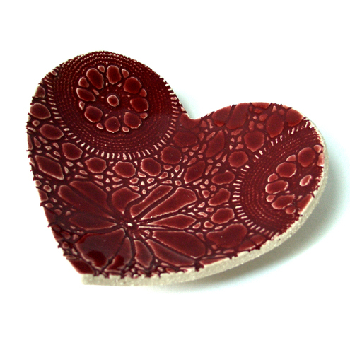 Prince Design UK - Ruby Lace Heart Bowl