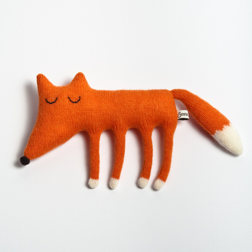 Monty the Fox Lambswool Plush - Sara Carr