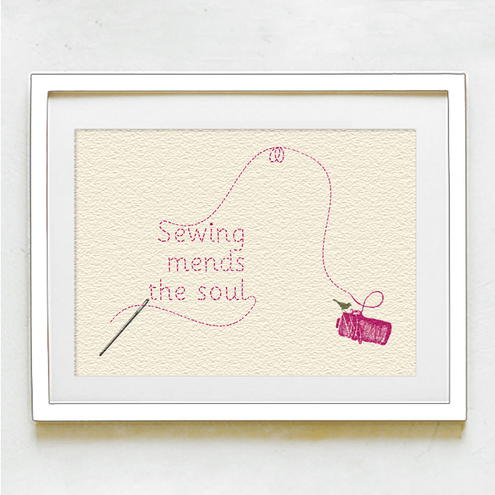 Sewing mends the soul, Hello Monkey £12