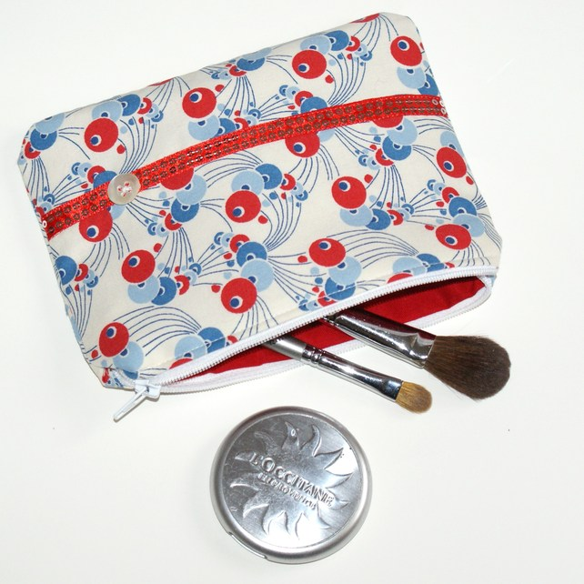 Red white & blue make up bag
