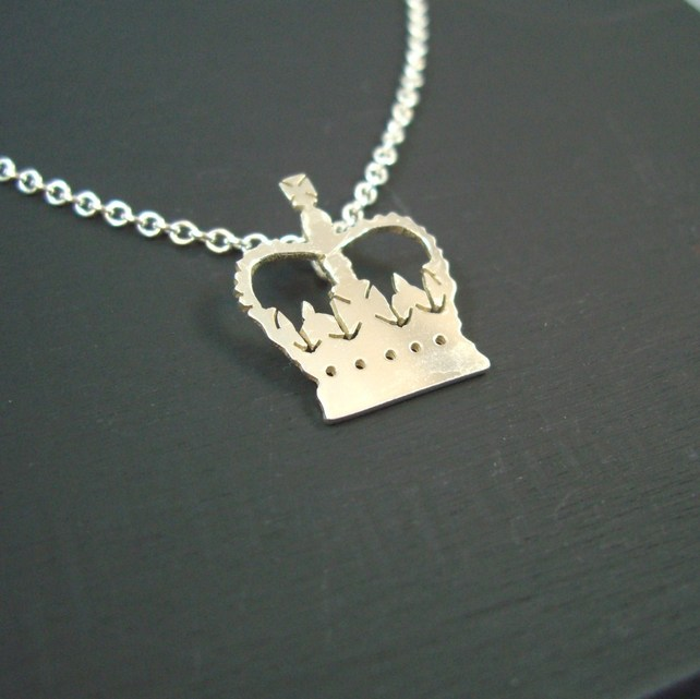 Sarah Brooks Jewellery - Sterling Silver Jubilee Crown Pendant